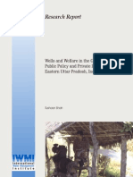 Wells and Welfare in the Ganga Basin Public Policy and Private Initiative in Eastern Uttar Prades