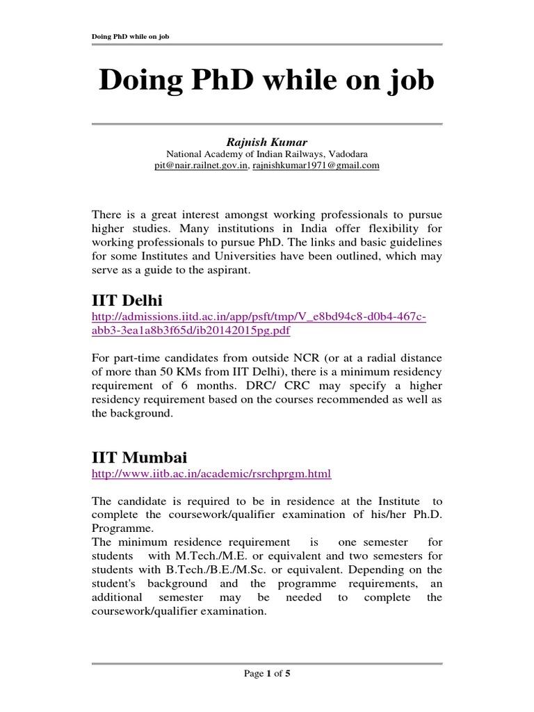 phd universities in india
