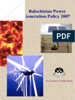 Balochistan Power Generation Policy,2007