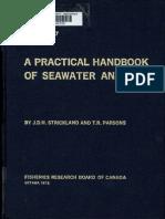 A Practical Handbook of Seawater Analysis