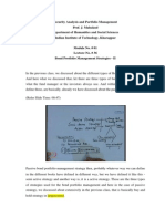 Lecture on Portfolio