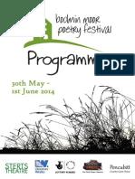 2014 Bodmin Moor Poetry Festival