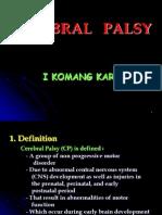 Lecture 23 Cerebral Palsy
