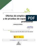 boletin oferta de empleo público