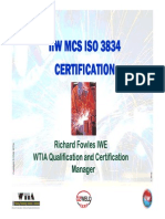 Why Choose Certification i So 3834 r 0