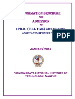 Information Brochure PhD Full Time January 2014