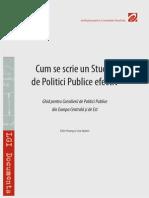 Cum se scrie un studiu de politici publice efectiv