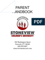 Parent Handbook StoneView Montessori