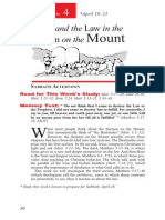 Christ & the Law in the Sermon on the Mount 19-25 April