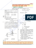 JEE MAIN 2014 Paper With Solution