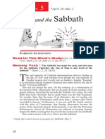Christ and the Sabbath 26 Apr - 2 May