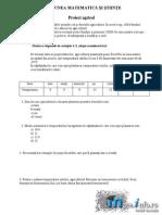 - Matematica Clasa a Vi-A - Test Pilot 2013