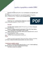 Caracterizarea Geografica Si Geopolitica a Statului CIPRU