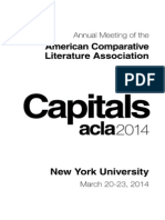 American Comparative Literary Association Programme Guide 2014