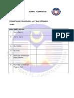Borang Pemantauan Aset KPM