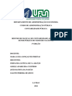 Resumo do Manual de Contabilidade Aplicada ao Setor Público