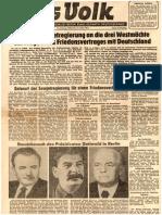 Friedensvertrag - Vorschlag der Sowjetregierung (1952)