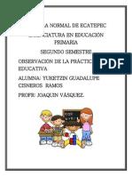 OBSERVACIÓN DE LA PRÁCTICA EDUCATIVA.