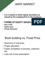 Primary Market (New)(1)