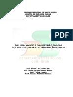 material de leitura sobre manejo e conservação do solo