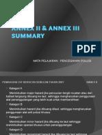 MARPOL 73/78 Annex II & Annex III- Summary