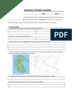 theory of plate tectonics cd rom activity