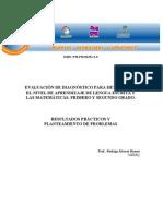 4.2 EvaluaciondelDiagnosticoparadeterminarelniveldeAprendizajedeLenguaEscritayMatematicas.1y2 Copia