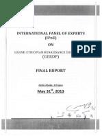 International Panel of Experts for Ethiopian Renaissance Dam- Final Report 1