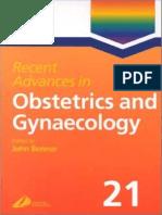 Recent Advances in Obstetrics & Gynecology Volume 21