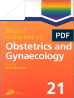 Recent Advances in Obstetrics & Gynecology Volume 21