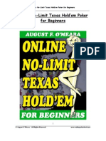 Online No Limit Texas Hold em Poker for Beginners English