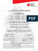ACLS Certificate