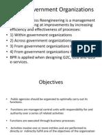 Bpr in Govt Organizations