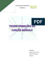 Estudo de algumas transformações da função módulo