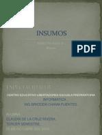 Especialidad b Insumos Claudia Rivera