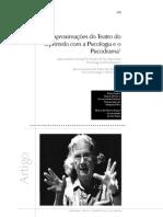 Aproximações do teatro do oprimido com a psicologia e o psicodrama