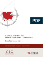 2012 Canada and the Five Eyes Intelligence Community
