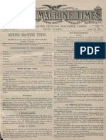 Sewing Machine Times Vol 1 No 1 1891