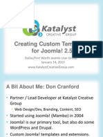 Joomla Custom Templates