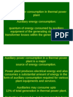 Auxiliary Power Consumption in thermal power plant
