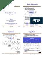 Lecture 13 - Sampling & Discrete Signals