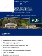 Talking and Learning Science in and Outside the Classroom