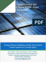 Energy Efficient Modelling of Solar Wind Hybrid Power