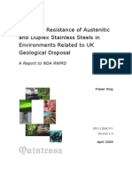 Corrosion Resistance of Austenitic and Duplex Stainless Steels in Environments