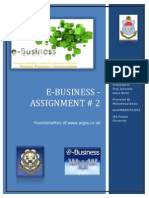 Assignment # 2 E Commerce 17 Jan 2014
