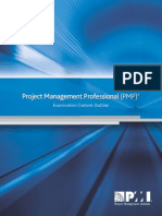 PMP Examination Content Outline_2010