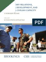 Civil Military Relationship