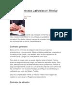 Tipos de Contratos Laborales en México