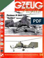 """(Flugzeug Profile No.14) Flettner Fl 282 """"Kolibri"""" Varianten"""