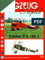 (Flugzeug Profile No.19) Fokker V.5/Dr.1